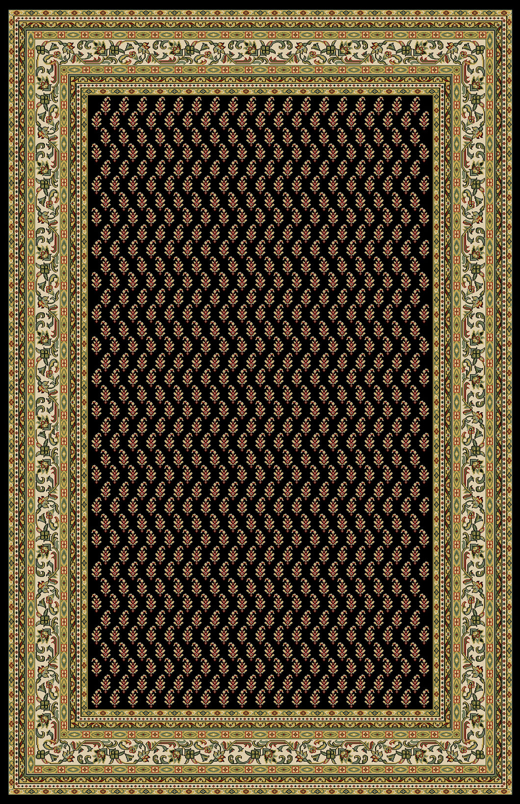 Altman Black Area Rug - Rug Tycoon