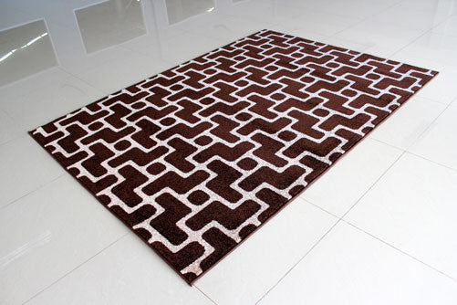 PRT1603 Brown Grey Area Rug - Rug Tycoon