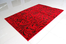 PRT1605 Red Dark Brown Area Rug - Rug Tycoon