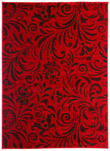 PRT1605 Red Dark Brown Area Rug