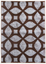 PRT1606 Brown Grey Area Rug