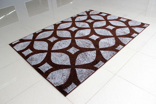 PRT1606 Brown Grey Area Rug - Rug Tycoon