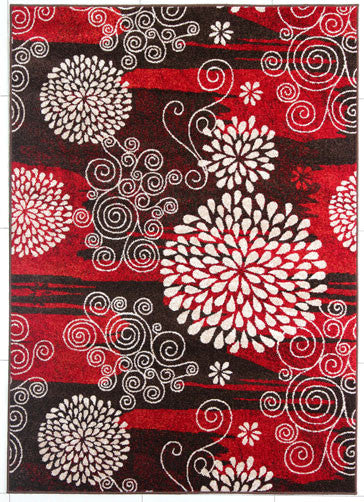 PRT1607 Brown Area Rug