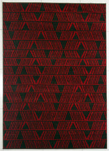PRT1609 Brown Red Area Rug