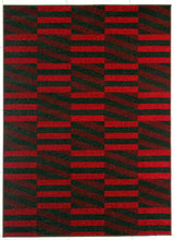 PRT1613 Brown Red Area Rug