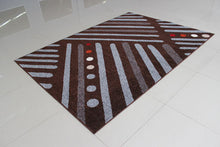PRT1614 Brown Grey Area Rug - Rug Tycoon