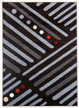 PRT1614 Brown Grey Area Rug