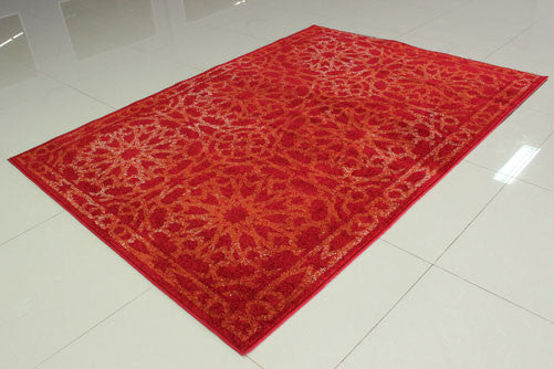 PRT1615 Red Area Rug - Rug Tycoon
