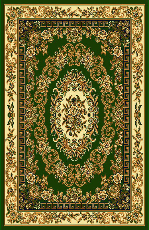 R401 Sage Green Brown Area Rug - Rug Tycoon