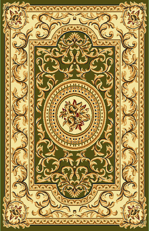 R403 Sage Green Brown Area Rug - Rug Tycoon