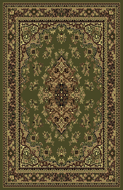R420 Sage Green Brown Area Rug - Rug Tycoon