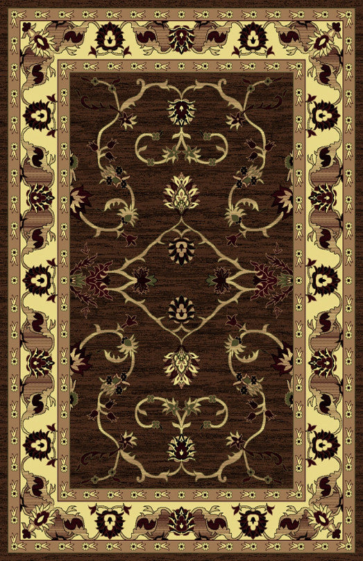 R434 Brown Area Rug - Rug Tycoon