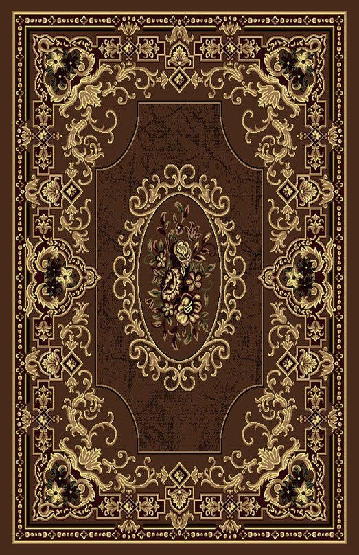 R435 Brown Area Rug - Rug Tycoon