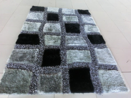 Black/Grey Area Rug - Rug Tycoon