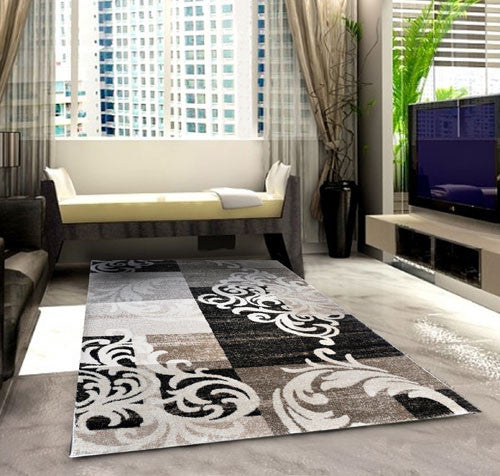SH101 Brown Area Rug - Rug Tycoon