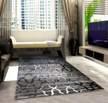 SH103 Grey Black Area Rug - Rug Tycoon