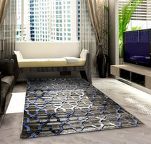 SH103 Grey Blue Area Rug - Rug Tycoon