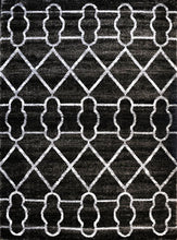 SH104 Grey Black Area Rug