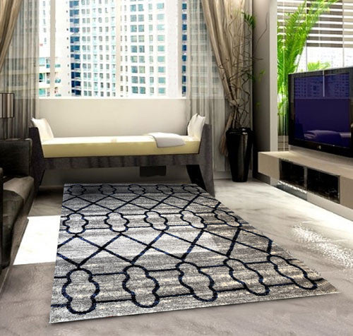 SH104 Grey Blue Area Rug - Rug Tycoon