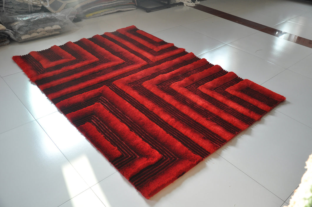 TD554 Red Area Rug - Rug Tycoon