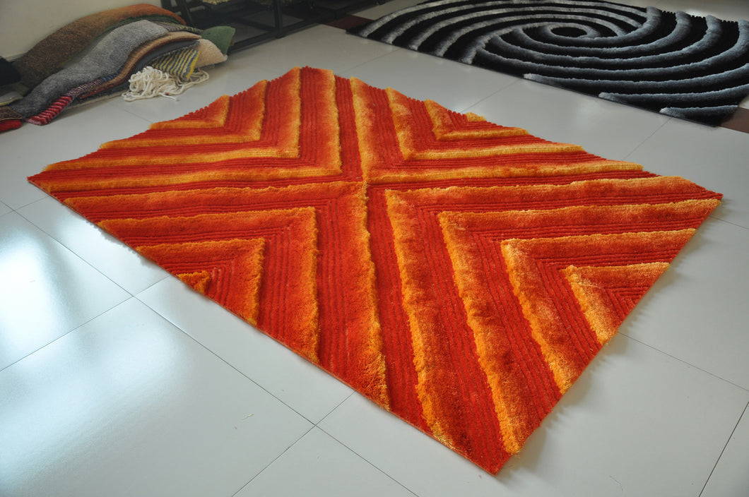 TD555 Orange Area Rug - Rug Tycoon
