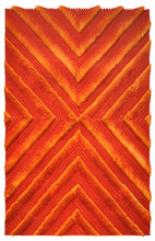 TD555 Orange Area Rug