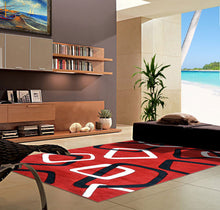 V1001 Dark Red Area Rug - Rug Tycoon