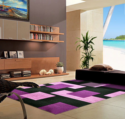 V1002 Purple Area Rug - Rug Tycoon