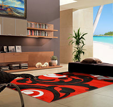 V1003 Dark Red Area Rug - Rug Tycoon