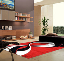 V1005 Dark Red Area Rug - Rug Tycoon