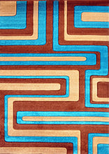 V1006 Turquoise Area Rug