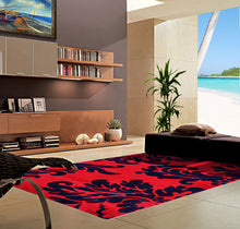 V1007 Dark Red Area Rug - Rug Tycoon
