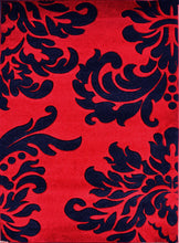 V1007 Dark Red Area Rug