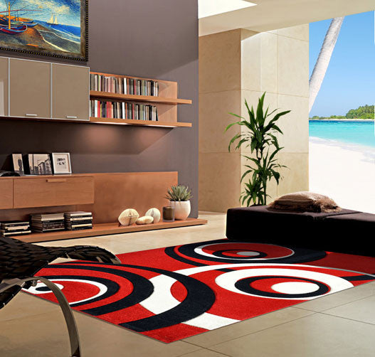 V1008 Dark Red Area Rug - Rug Tycoon