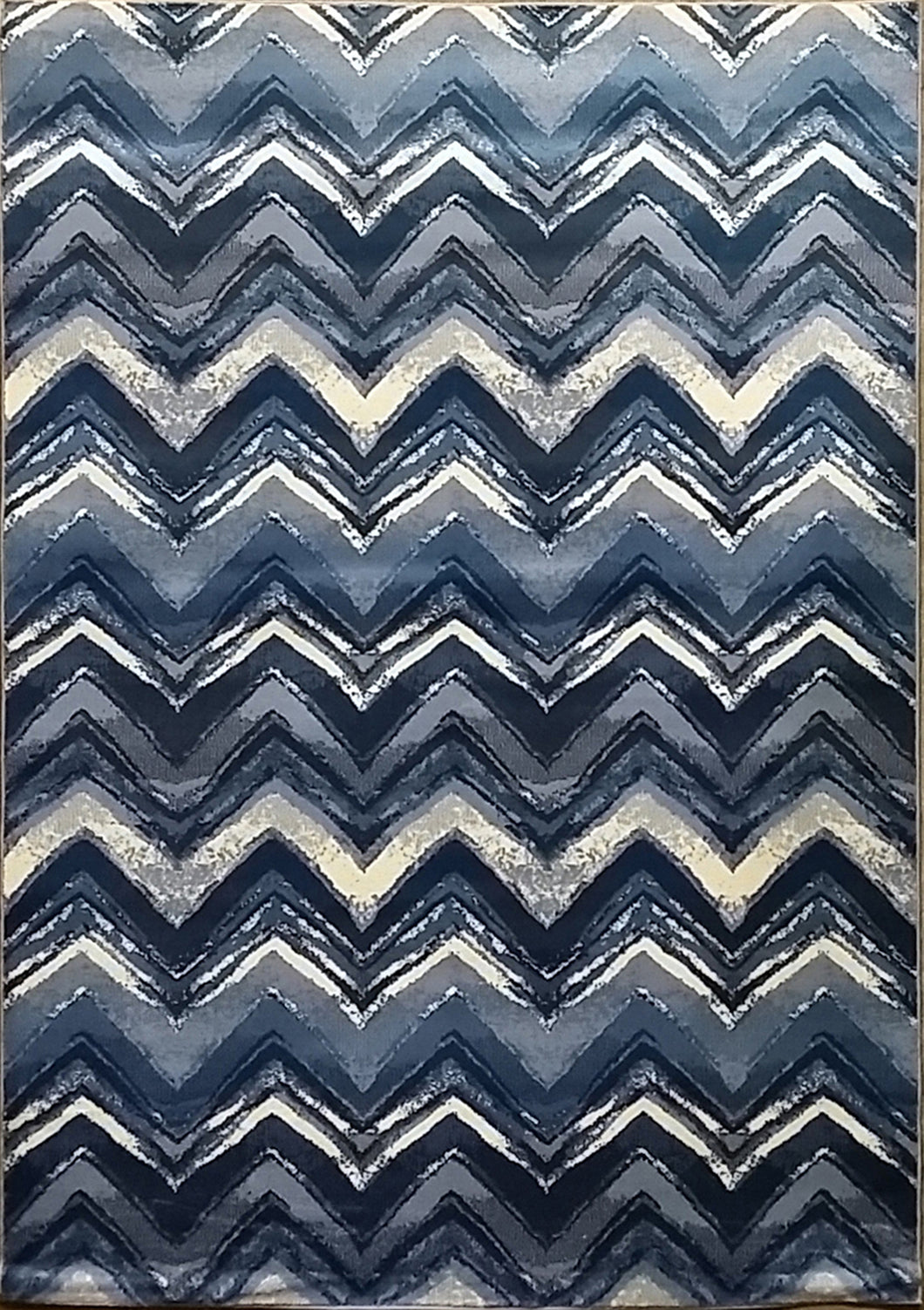 Geren Dark Blue Area Rug