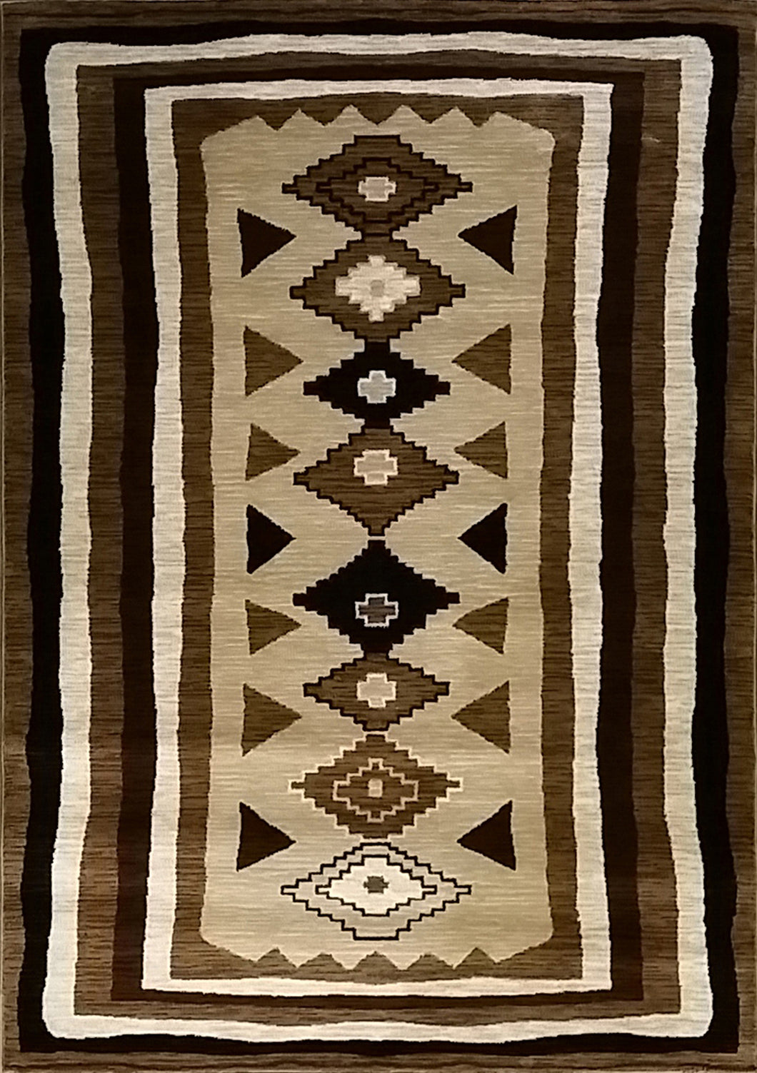 Shuntae Brown Area Rug