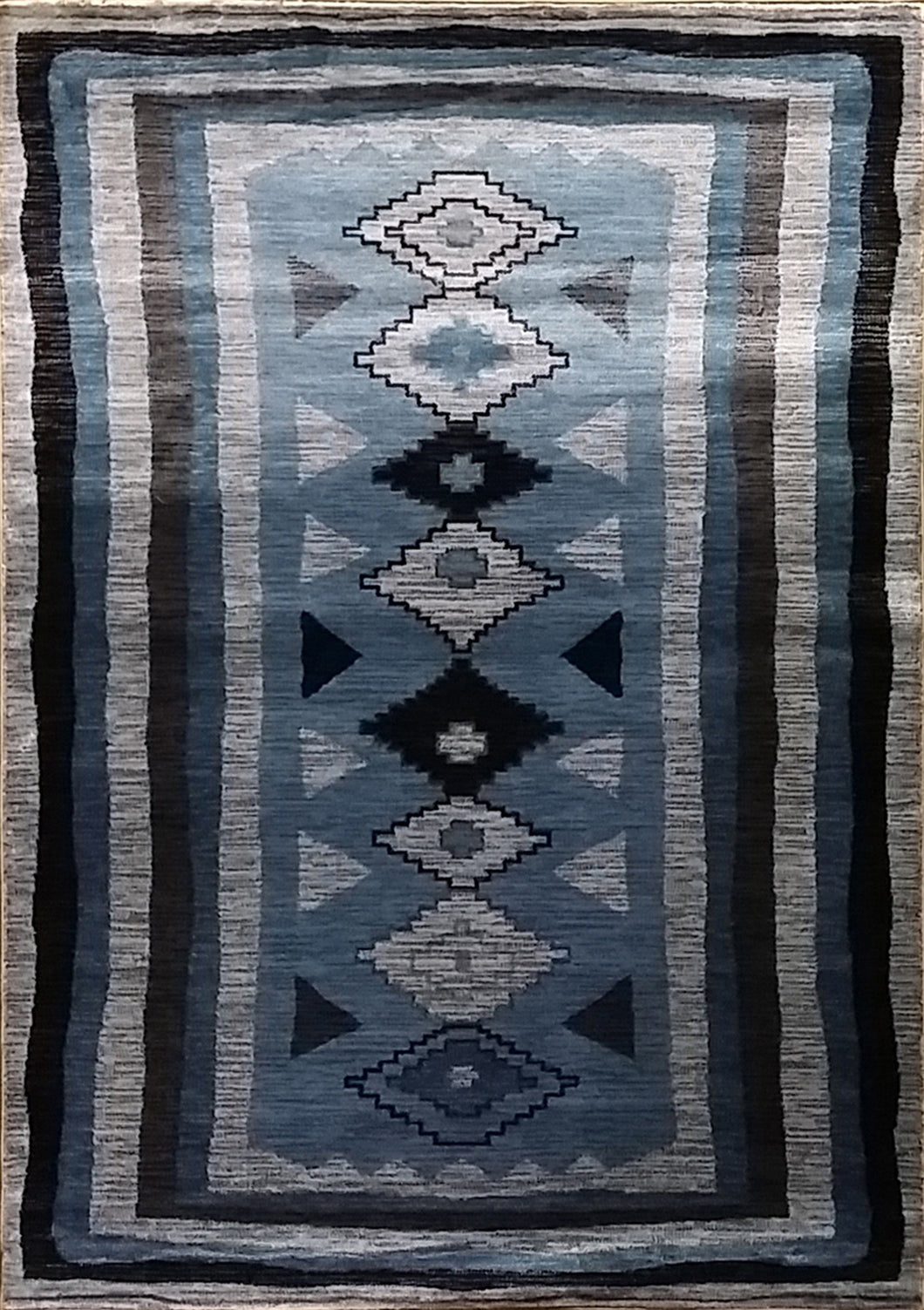 Shuntae Dark Blue Area Rug