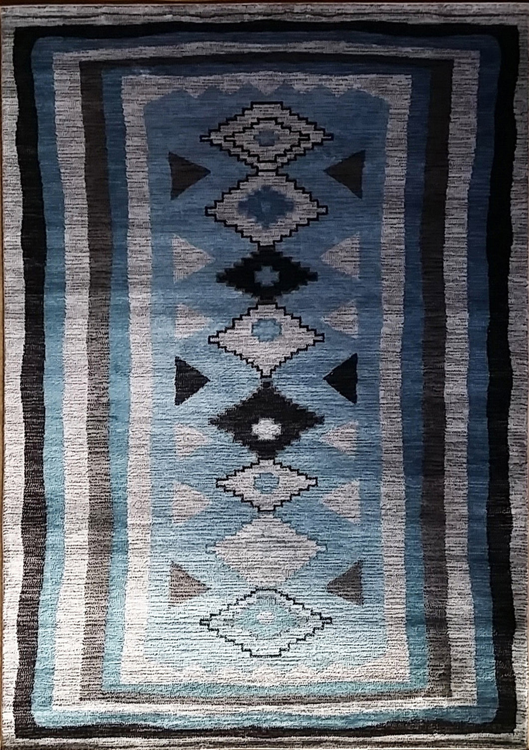 Shuntae Light Blue Area Rug