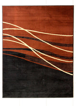 W1501 Black Brown Area Rug