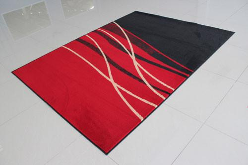 W1501 Black Red Area Rug