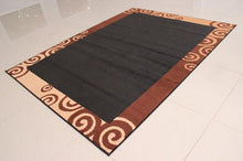 W1502 Black Brown Area Rug