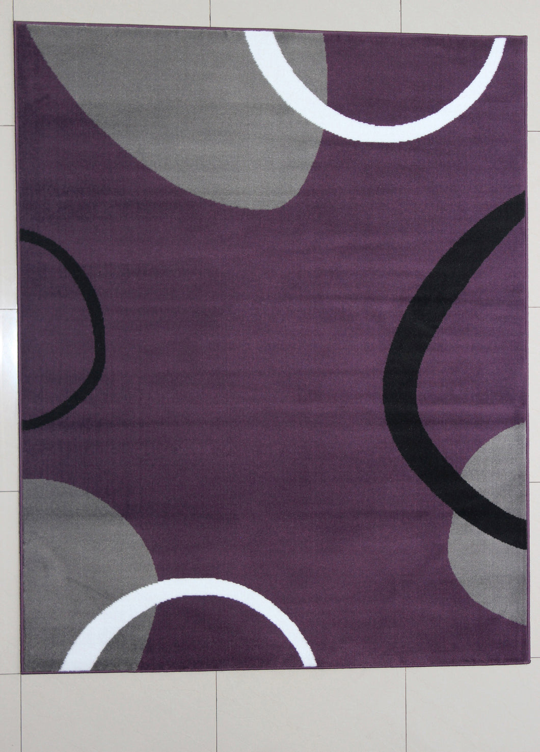 Gene Rectangle Purple Area Rug