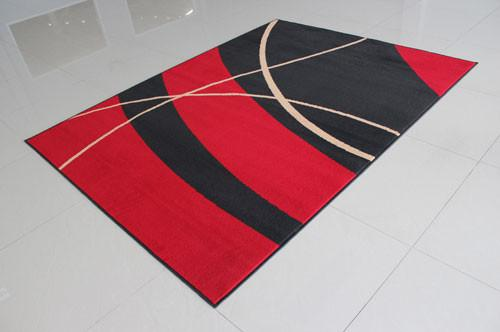 W1504 Black Red Area Rug