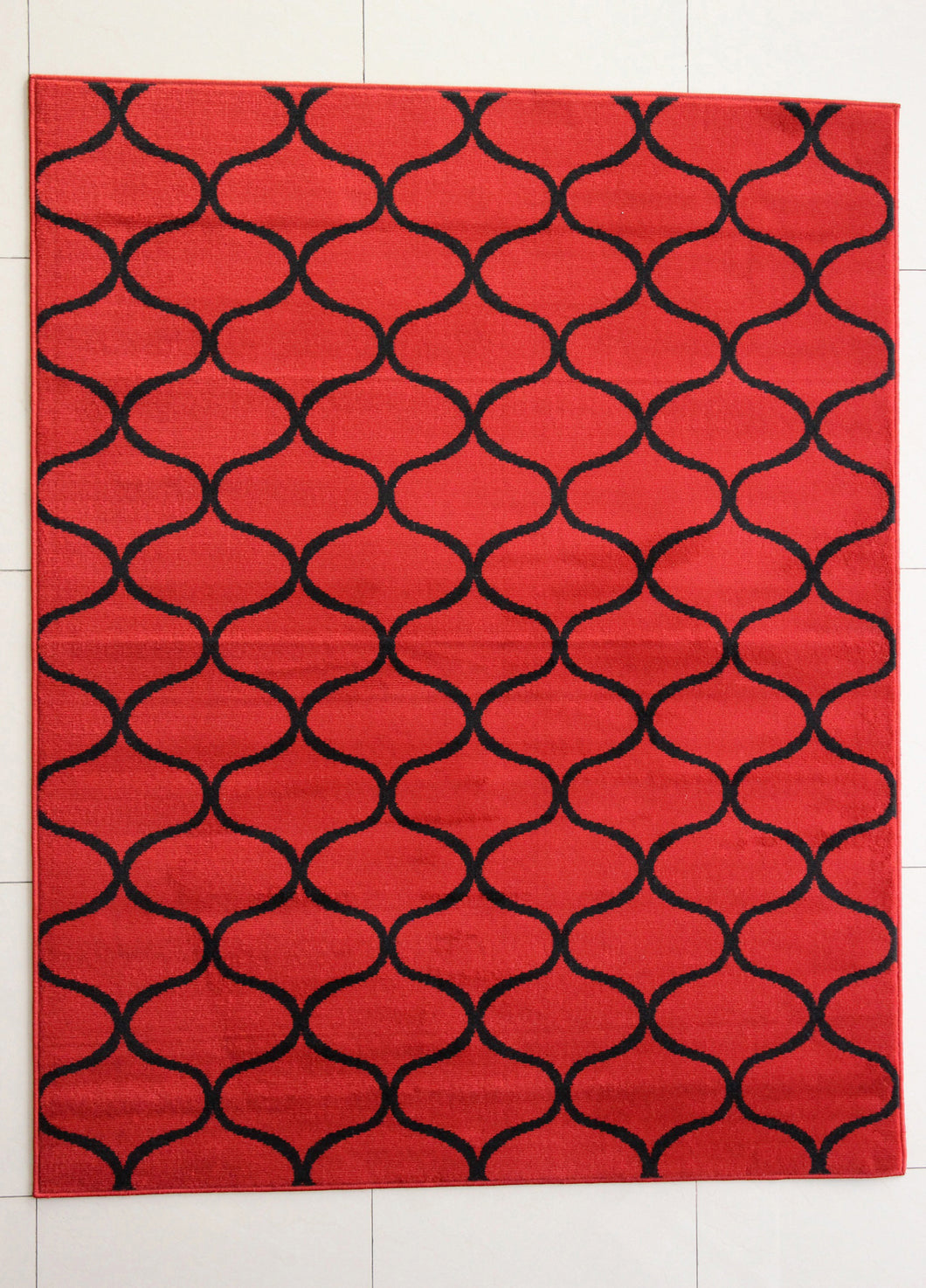 Carolan Wavy Pattern Orange Area Rug