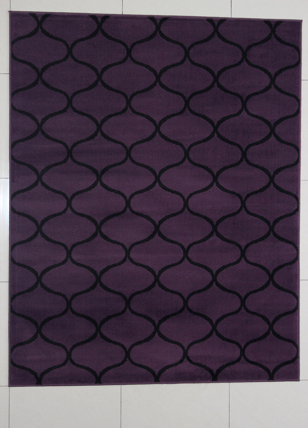 Rattew Wavy Pattern Purple Area Rug