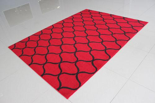 W1505 Red Black Area Rug