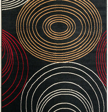 W1507 Black Red Area Rug
