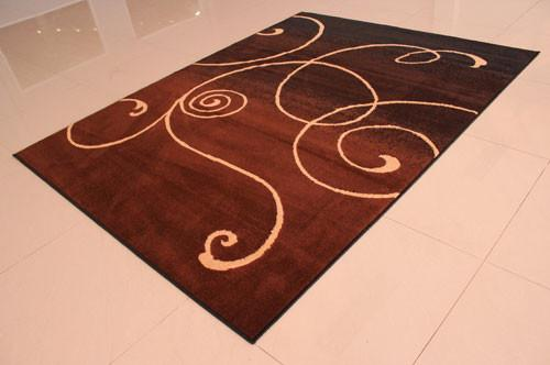 W1509 Black Brown Area Rug