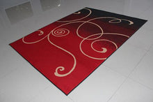 W1509 Black Red Area Rug