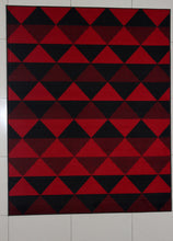 W1511 Black Red Area Rug